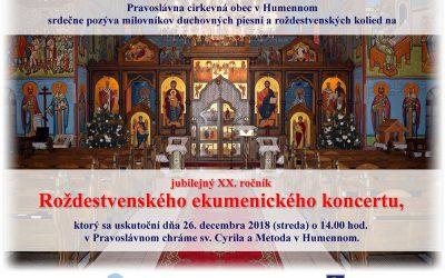Pozvánka na Jasličkovú akadémiu a Festival v Pravoslávnej cirkvi