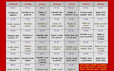 Pôstny kalendár nielen pre deti